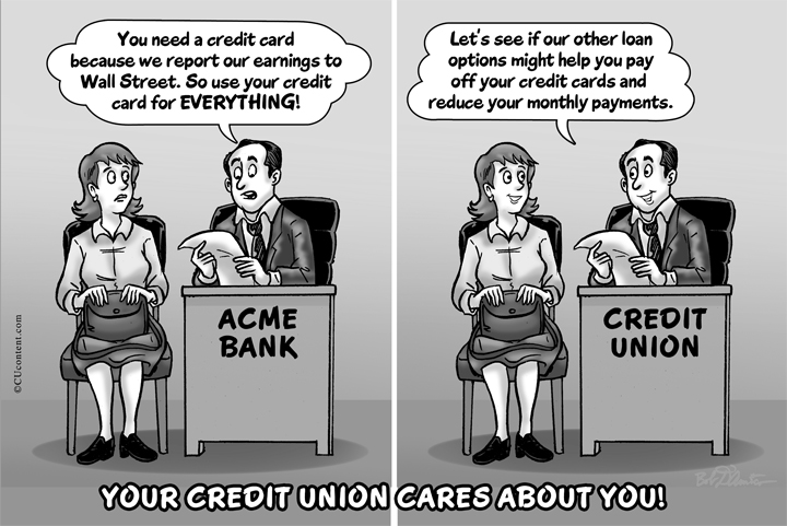 Credit Union Vs Bank4web