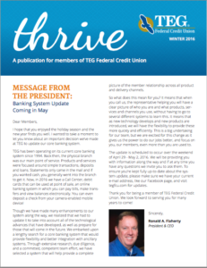 Thrive Winter 2016 Edition