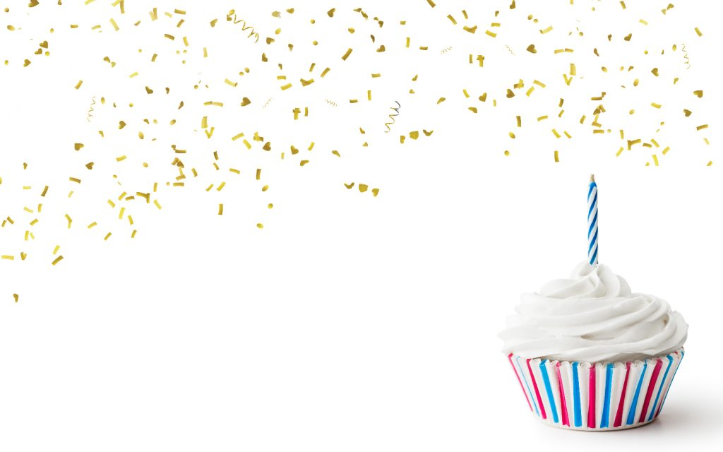 Confetti and cupcake