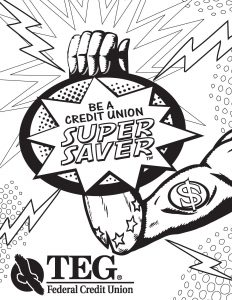 Super Saving Coloring Page