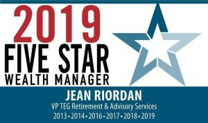 2019 Five Star Wealth Manager Award