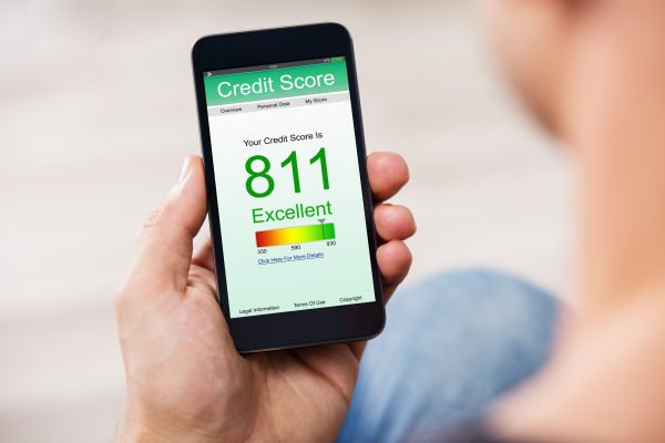Smart Phone Showing Credit Report