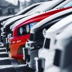 Row of Cars For Sale