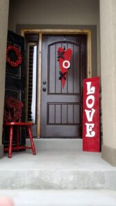 valentines day themed door