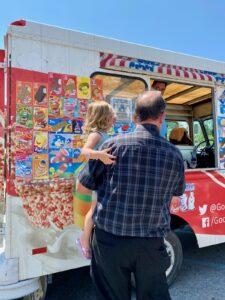 Ron and Granddaughter at ice cream truck
